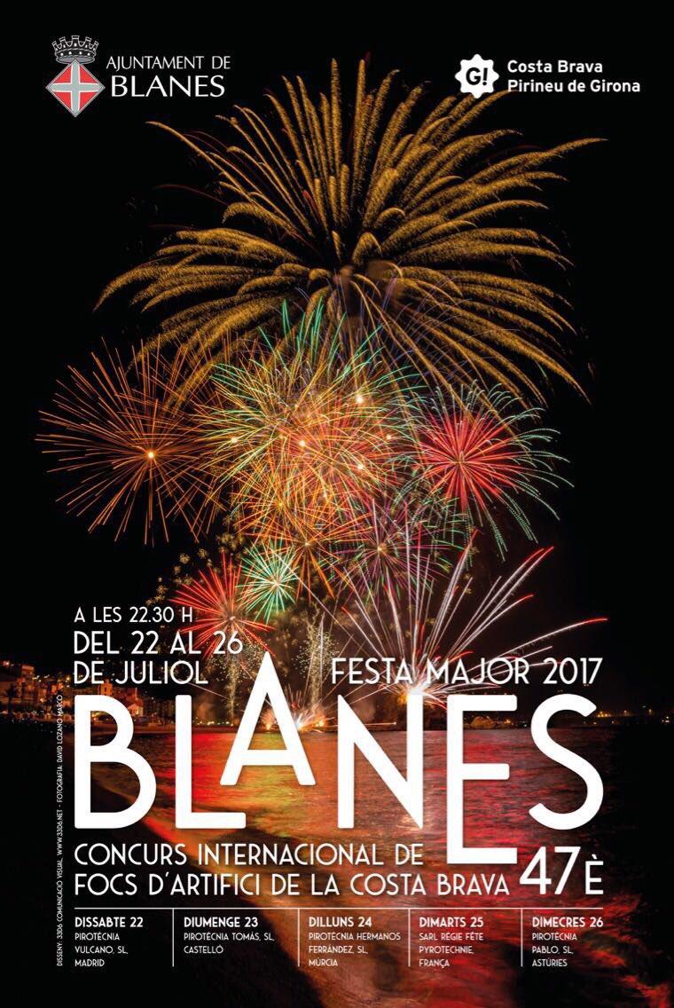 feux d'artifice de Blanes 2017